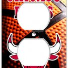 CHICAGO BULLS NBA BASKETBALL TEAM POWER OUTLET RECEPTACLE ART WALL PLATE COVER