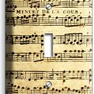SHEET MUSIC VINTAGE MUSICAL NOTE SINGLE LIGHT SWITCH WALL PLATE COVER STUDIO ART