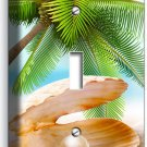 SEE SHELL PEARL PALM BEACH SINGLE LIGHT SWITCH WALL PLATE COVER HOME ROOM DECOR