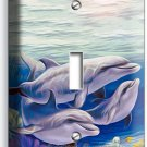 DOLPHINS FAMILY SINGLE LIGHT SWITCH WALL PLATE COVER LIVING ROOM BEDROOM DECOR