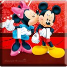 MICKEY MOUSE & MINNIE KISSING DOUBLE LIGHT SWITCH WALL PLATE COVER BEDROOM  ART