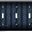 SPORT RACING CAR TRUCK TIRE TRIPLE LIGHT SWITCH WALL PLATE COVER MAN CAVE GARAGE