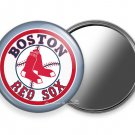 BOSTON RED SOX BASEBALL TEAM PURSE POCKET ROUND HAND MIRROR SPORTS FAN GIFT IDEA