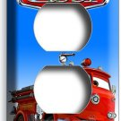 CARS RED FIRE TRUCK DUPLEX OUTLET WALL PLATE COVER BABY BOY BEDROOM ROOM DECOR