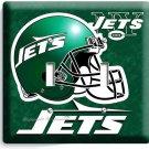 NY NEW YORK JETS NFL FOOTBALL TEAM DOUBLE LIGHT SWITCH WALL PLATE BOYS BEDROOM