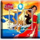 PRINCESS ELENA OF AVALOR SKYLAR DOUBLE GFCI LIGHT SWITCH WALL PLATE GIRLS ROOM