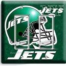 NY NEW YORK JETS NFL FOOTBALL TEAM DOUBLE GFCI LIGHT SWITCH WALL PLATE BOYS ROOM