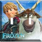 DISNEY FROZEN KRISTOFF SVEN DEER DOUBLE LIGHT SWITCH PLATE KIDS ROOM ART BEDROOM