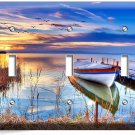 BOAT ON THE LAKE AT A TWILIGHT LIGHT TRIPLE SWITCH WALL PLATE COVER DREAMY DECOR