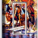 NATIVE AMERICAN INDIANS HORSES SINGLE GFI LIGHT SWITCH WALL PLATE COVER ROOM ART