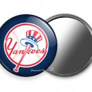 NEW YORK YANKEES BASEBALL TEAM PURSE POCKET HAND MIRROR MLB GAME FAN GIFT IDEA