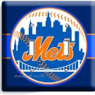 NEW YORK METS BASEBALL TEAM DOUBLE LIGHT SWITCH WALL PLATE COVER BOYS ROOM DECOR