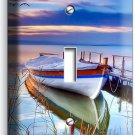 BOAT ON THE LAKE TWILIGHT TIME LIGHT SINGLE SWITCH WALL PLATE COVER DREAMY DECOR