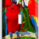 COLORFUL TROPICAL MACAW PARROTS SINGLE LIGHT SWITCH WALL PLATE COVER HOME DECOR