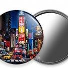 NEW MANHATTAN NEW YORK CITY THAT NEVER SLEEPS TIMES SQUARE SQ. HAND HELD MIRROR