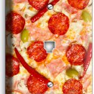 PEPPERONI CHEESE PIZZA PHONE TELEPHONE WALL PLATE DINING ROOM KITCHEN HOME DECOR