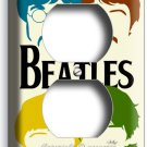 THE BEATLES POP ART JOHN GEORGE PAUL RINGO DUPLEX OUTLETS COVER ROOM HOME DECOR