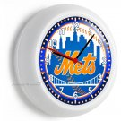 NY NEW YORK METS BASEBALL TEAM LOGO WALL CLOCK MAN CAVE LIVING ROOM GARAGE DECOR