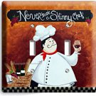 DRUNK ITALIAN FAT CHEF DOUBLE LIGHT SWITCH WALL PLATE COVER KITCHEN DINING ROOM