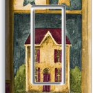 RUSTIC OLD AMERICANA COUNTRY HOUSE SINGLE GFCI LIGHT SWITCH WALL PLATE ART COVER