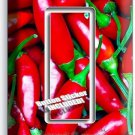 HOT RED CHILI PEPPERS SINGLE GFI LIGHT SWITCH WALL PLATE COVER KITCHEN ART DECOR