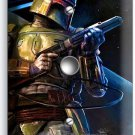 STAR WARS BOBA FETT GALAXY BOUNTY HUNTER LIGHT DIMMER CABLE WALL PLATE COVER ART