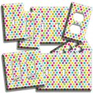 COLORFUL PASTEL POLKA DOTS BABY NURSERY LIGHTSWITCH WALL PLATE OUTLET ROOM DECOR