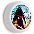 STAR WARS KYLO REN FIRST ORDER STORMTROOPERS WALL CLOCK BOYS ROOM MAN CAVE DECOR