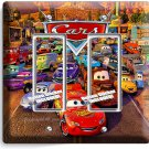 DISNEY'S CARS 3 MOVIE LIGHTNING MCQUEEN GFI DOUBLE LIGHT SWITCH WALL PLATE COVER