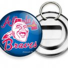 ATLANTA BRAVES BASEBALL TEAM INDIAN TOMAHAWK CHIEF HEAD BOTTLE OPENER KEYCHAIN