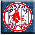 BOSTON RED SOX BASEBALL TEAM DOUBLE GFCI LIGHT SWITCH WALL PLATE MAN CAVE DECOR
