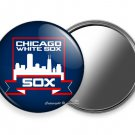 CHICAGO WHITE SOX COOPERSTOWN BASEBALL TEAM PURSE POCKET HAND MIRROR MLB IL GIFT