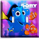 FINDING DORY PINK JELLYFISH NEMO DOUBLE LIGHT SWITCH WALL PLATE OCEAN KIDS ROOM