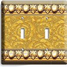 GREEK ROMAN VICTORIAN PATTERN DECORATIVE DOUBLE LIGHT SWITCH WALL PLATE COVER