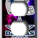 DALLAS COWBOYS FOOTBALL TEAM LOGO DUPLEX OUTLET WALL PLATE COVER MAN CAVE DECOR