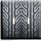 DRAG RACING TRUCK CAR TIRE DOUBLE LIGHT SWITCH WALL PLATE COVER BOYS ROOM GARAGE