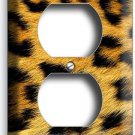 LEOPARD ANIMAL SKIN PRINT THEME DUPLEX OUTLET WALL PLATE COVER ROOM HOME DECOR