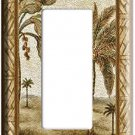 EXOTIC PARADISE ISLAND PALM TREES SINGLE DECO/ROCKER LIGHT SWITCH COVER PLATE