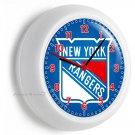 NEW YORK RANGERS HOCKEY TEAM NYR LOGO WALL CLOCK MAN CAVE BOY TV ROOM HOME DECOR