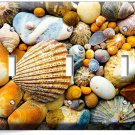 SEA SHELLS BEACH STONES TRIPLE LIGHT SWITCH WALL PLATE BATHROOM SUMMER HOUSE ART