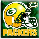 GREEN BAY PACKERS FOOTBALL DOUBLE LIGHT SWITCH WALL PLATE BOYS ROOM MAN CAVE ART