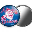 ATLANTA BRAVES BASEBALL TEAM INDIAN TOMAHAWK CHIEF HEAD PURSE POCKET HAND MIRROR