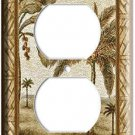 FLORIDA BEACH PALM TREES DUPLEX ELECTRICAL OUTLET WALL PLATE COVER ROOM DECOR 2H