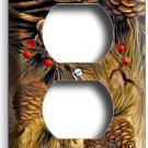 PINE CONES DUPLEX OUTLETS WALL PLATE COVER COUNTRY WOOD CABIN RUSTIC ROOM DECOR