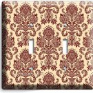 VICTORIAN PATTERN DOUBLE LIGHT SWITCH WALL PLATE COVER BEDROOM LIVING ROOM DECOR