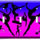 LITTLE GYMNAST TRIPLE LIGHT SWITCH WALL PLATE GIRLS ROOM GYM DANCE STUDIO DECOR