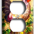 COUNTRY FARM ROOSTER RUSTIC DUPLEX OUTLETS WALL PLATE COVER KITCHEN ROOM DECOR