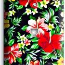 HAWAIIAN HIBISCUS FLOWERS PRINT PATTERN PHONE TELEPHONE  COVER WALL PLATE DECOR