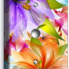 ❀ FLORAL LILIES PURPLE ORANGE LILY FLOWERS PHONE TELEPHONE WALL PLATE ROOM DECOR