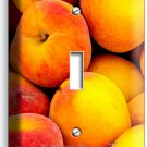 RIPE PEACHES SINGLE LIGHT SWITCH WALL PLATE DINING ROOM KITCHEN HOME FRUIT DECOR
